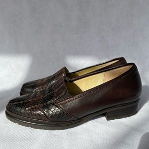 Lady Gabor Brown Leather Loafers